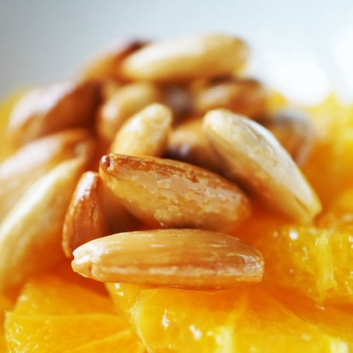 Salade d'oranges cannelle aux amandes caramélisées