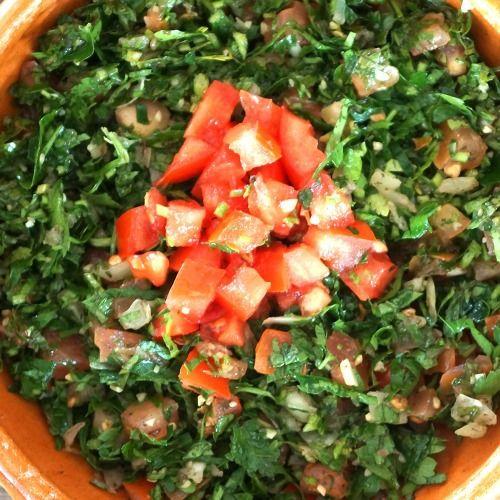 Tabboulée de persil et tomates